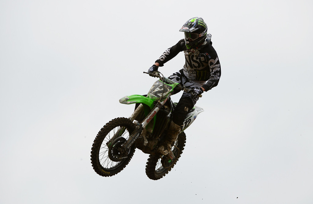 . Jacob Weimer (12) is competing during 450 Class Moto #1 of the third round of the Lucas Oil Pro Motocross Championship at Thunder Valley MX Park. Lakewood, Colorado. June 07. 2014. (Photo by Hyoung Chang/The Denver Post)