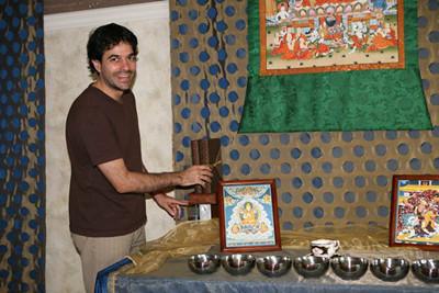 Shamata Centre sets up the shrine for the Celebration.