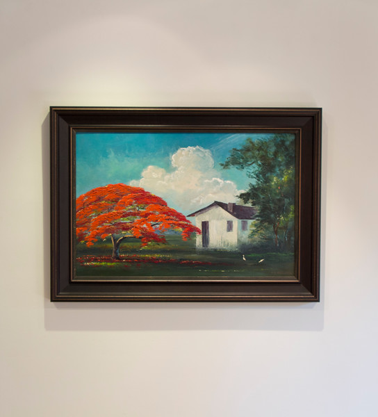 "Roy McLendon, ""Poinciana Tree ,"" 1950, oil on panel"