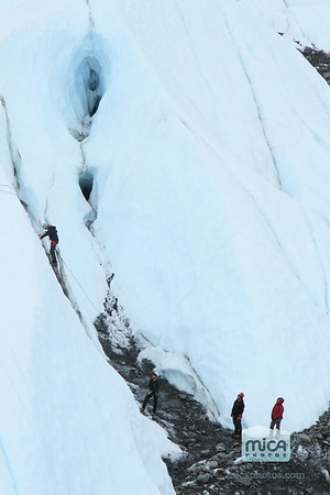 August 30 Ice Climb with Jesse and Becca