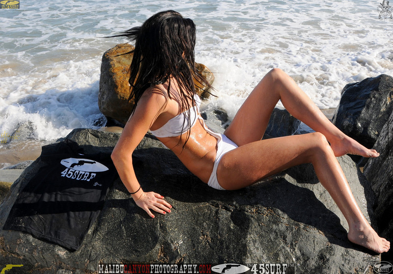 beautiful woman sunset beach swimsuit model 45surf 838.