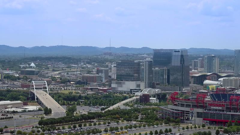 Drone aerial Nashville Tennessee Downtown City landscape 4k 24p