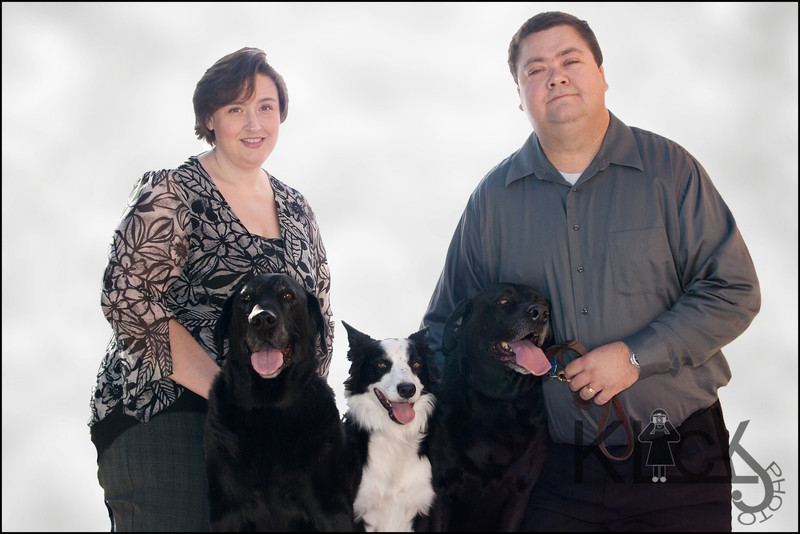 Ebony, Panda and Rocky posed like pros with mom and dad.