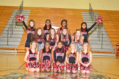 2012 Butler High School JV Basketball Cheerleaders - Team Pictures