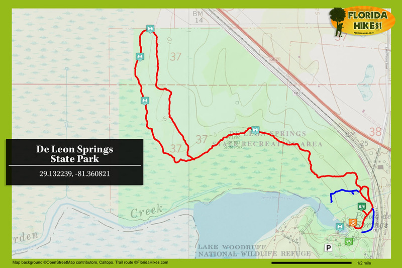 De Leon Springs State Park Trail Map