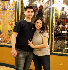 Nikole & Austin at Pike Place Market.