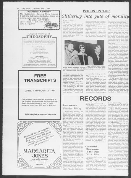 Daily Trojan, Vol. 93, No. 53, April 07, 1983