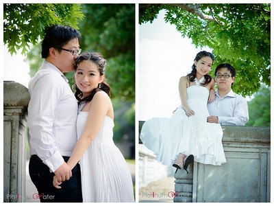 Yifu + Yoshie Engagement, College Station, Bryan Park, TX