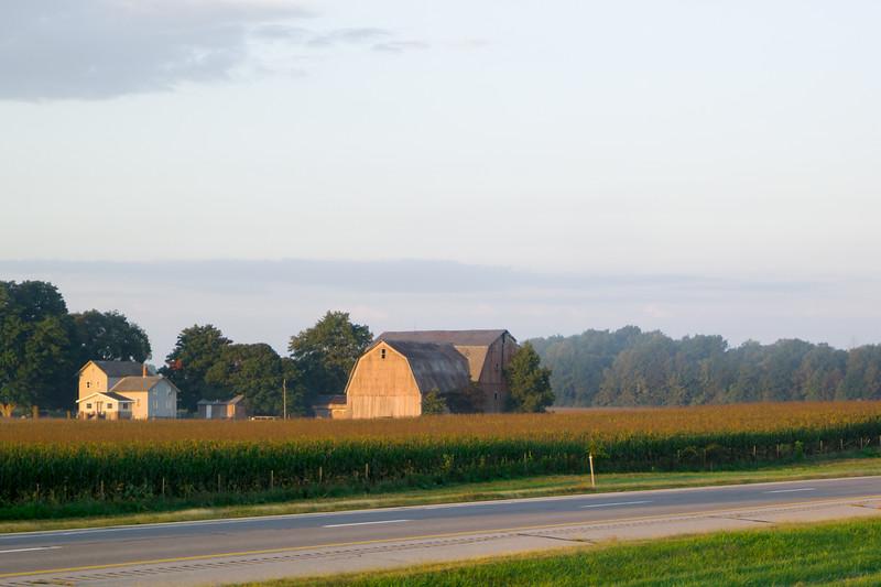 Ohio Barn At Sunrise