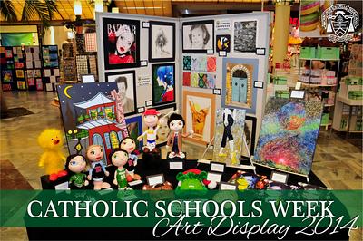 Catholic Schools Week Art Display