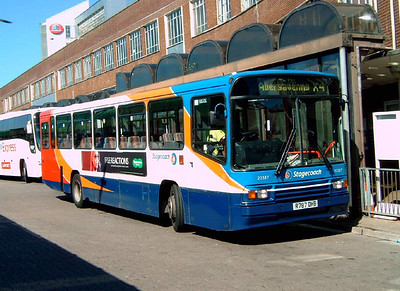 Volvo B10M and Mercedes O405