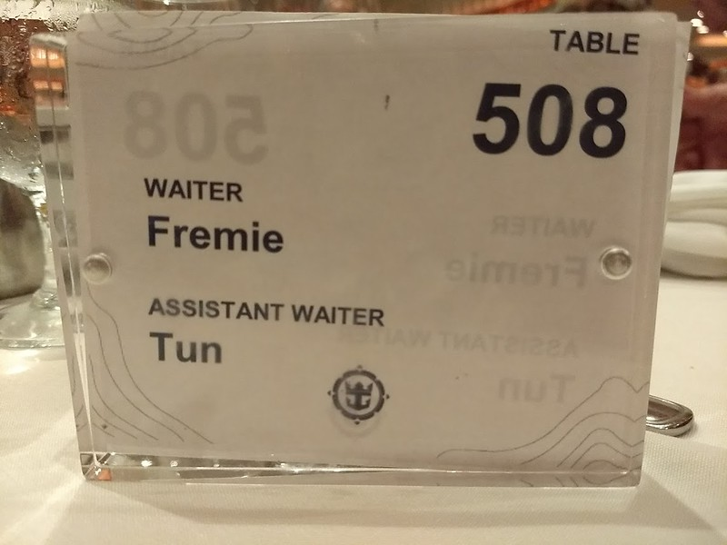 Fremie Table number and our waiters.jpg