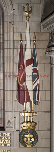 Navy Wall, East Elevation - Ensigns