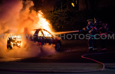 Andover, MA Car Fire - 185 N Main St - 4/22/18