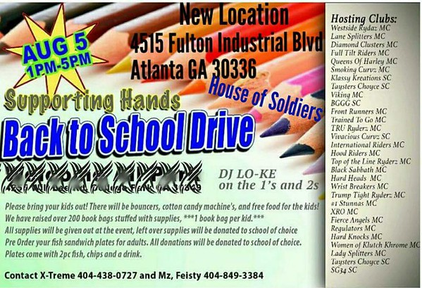 Supporting Hands Back To School Drive 2017