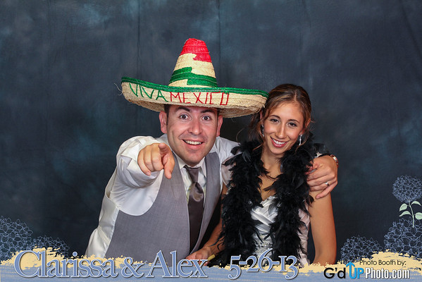 Clarissa and Alex Photobooth Photos