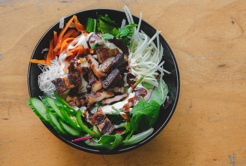 Barbecued Pork Belly Banh Mi Bowl from Les Banh Amis