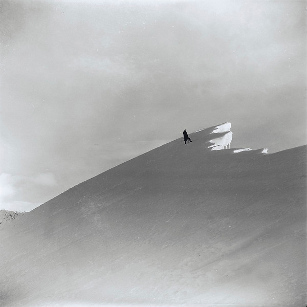 1951 Don Peacock, Paul Wheeler and JER Mathews above Fox Neve on Main Divide, Southern Alps, NZ.jpg