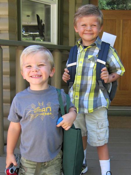 Owen's first day of kindergarten
