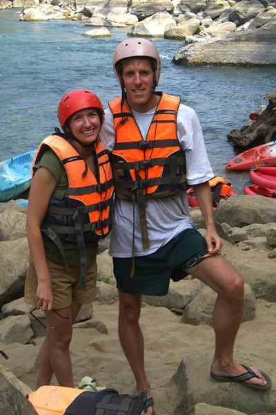Kayaking Dan and Audrey - Vang Vieng, Laos