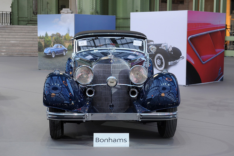 . A 1935 Mercedes 500K is displayed ahead of a sale of vintage cars by Bonhams auction house, at Le Grand Palais on February 5, 2014 in Paris, France.  (Photo by Antoine Antoniol/Getty Images)
