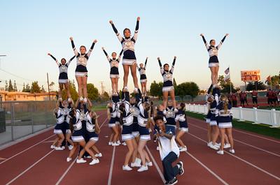Varsity Cheer vs. Downey