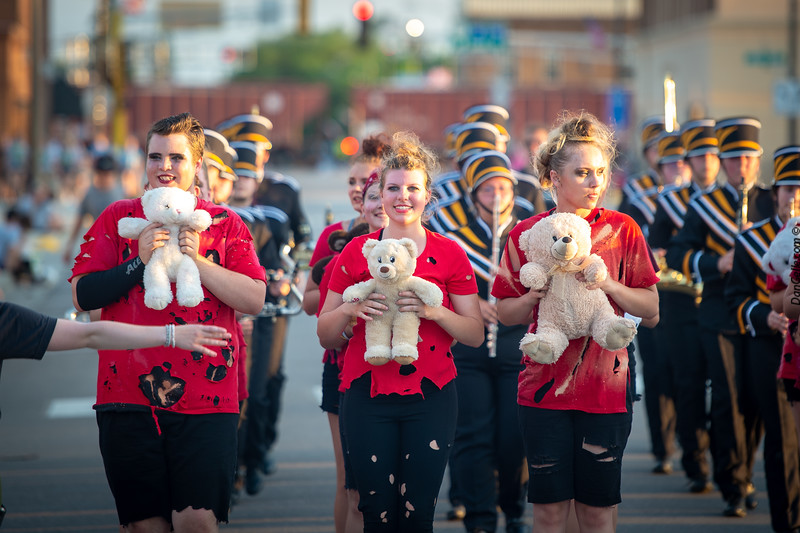 Hutchinson Marching Band at Pioneerland Band Festival