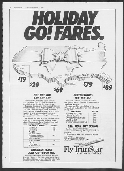 Daily Trojan, Vol. 102, No. 62, December 02, 1986