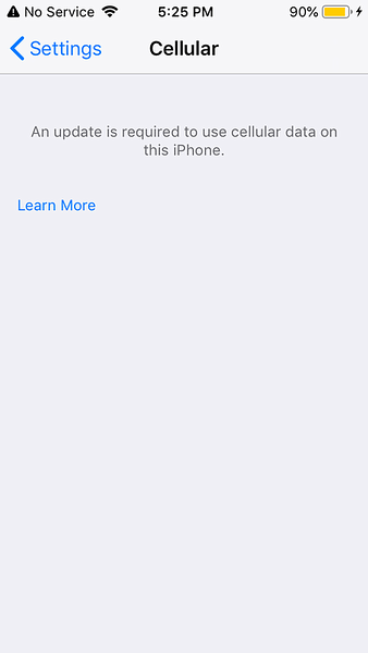 Update your carrier settings on your iPhone or iPad https://support.apple.com/en-us/HT201270