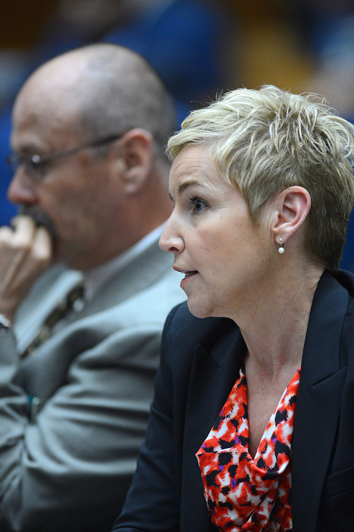 . Prosecutor Deborah Brazil during sentencing of David Viens for the murder of his wife Dawn Viens. LA Superior Court. Photo by Brad Graverson/LANG 3-22-13
