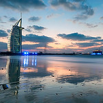 Sunset Over The Burj Al Arab - (Dubai, UAE)