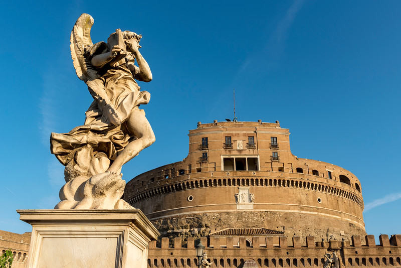 Angel statue and Castel Sant'Angelo