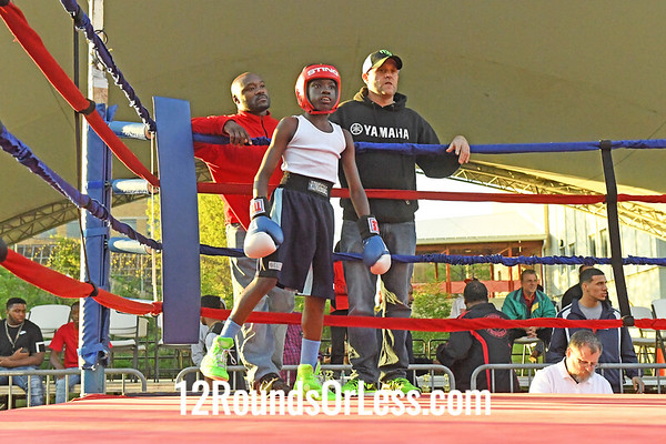 Bout 4 Tyshawn Denson, Blue Gloves, 12 yr -vs- Marshaun Heard, Red Gloves, 11 yr, 85 lbs