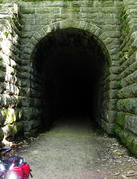 The 1,200 foot long tunnel on the Badger State Trail.