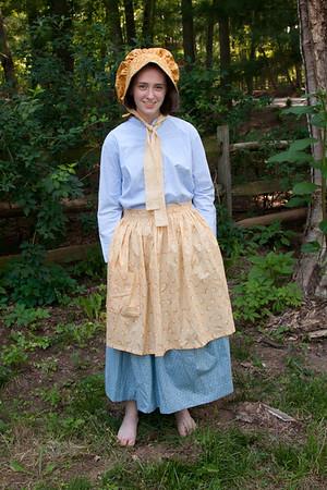 Theresa and Daniel pioneer costumes June 8, 2012