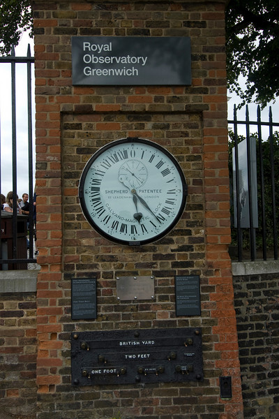 Outside the Royal Observatory in Greenwich, England