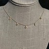 1.01ctw Trillion Rose Cut Diamond Scatter Necklace 19