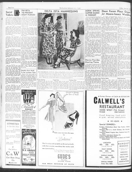 Daily Trojan, Vol. 28, No. 122, April 23, 1937