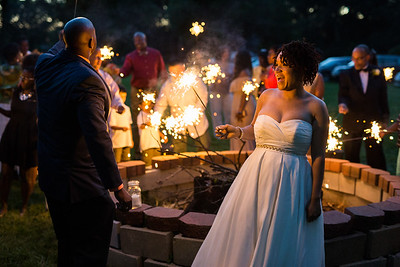 backyard wedding in Columbus, OH