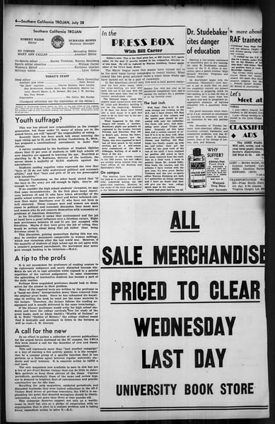 Southern California Trojan, Vol. 35, No. 11, July 28, 1943