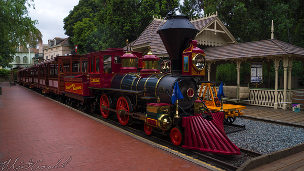 Disneyland Resort, Disneyland, New, Orleans, Square, Frontierland, Railroad, Engine, 1, One, C, K, Holiday