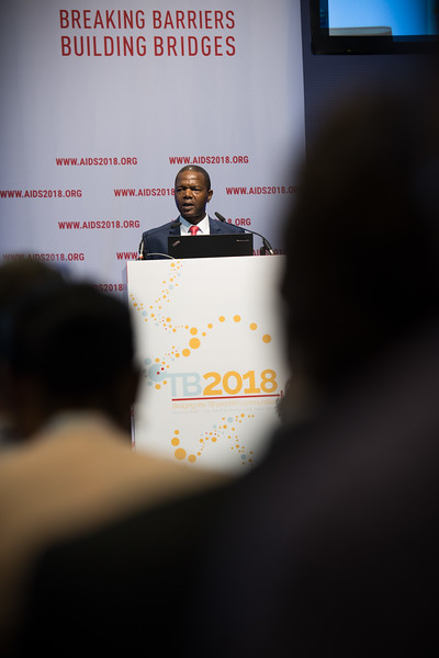 22nd International AIDS Conference (AIDS 2018) Amsterdam, Netherlands   Copyright: Marcus Rose/IAS  Photo shows: TB 2018: Bridging the TB and HIV Communities. Opening addresses: TB and HIV in 2018 Simon Zwane, Permanent Secretary of Health, Swaziland.