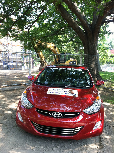 "This car and the opportunity to buy Raffle tickets will appear at many public events in the remaining months of 2102.  For instance, Thursday July 26 will be ""Holyoke Public Library night"" at the Holyoke BLUE SOX game; HPL Library Director Terry Plum will throw out the first ball."