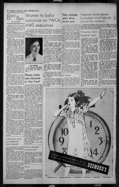 Daily Trojan, Vol. 34, No. 117, April 01, 1943