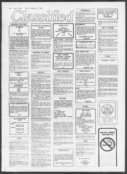 Daily Trojan, Vol. 92, No. 33, October 22, 1982