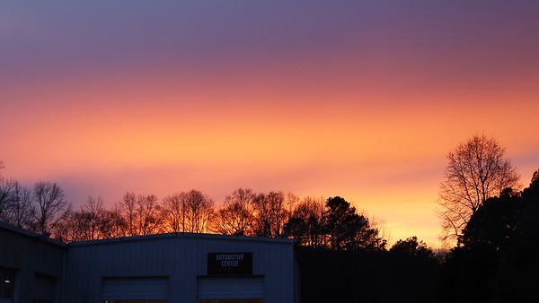 February 1:  A colorful sky .  .  .