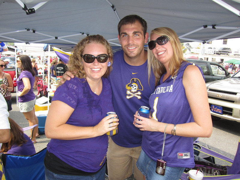 9/3/2011 ECU vs South Carolina  Lauren, Tom, Staci
