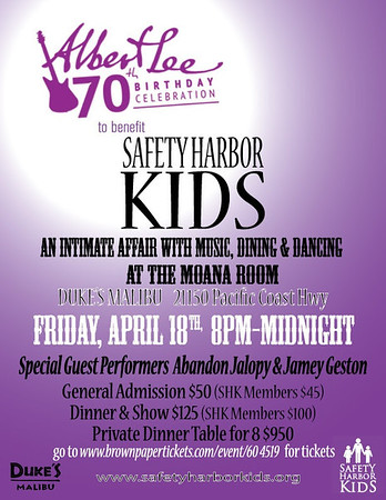 2014-04-18, Albert Lee's 70th Birthday Celebration Tour, Benefit Concert For Safety Harbor Kids