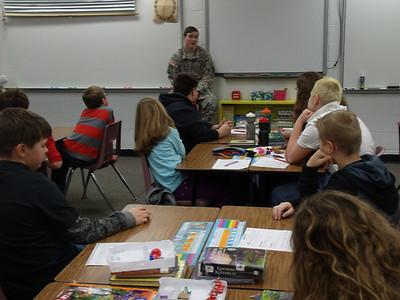 Veteran Lt. Thome visits Mrs. Flynn