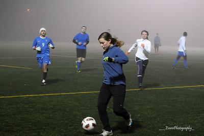 Fog Soccer @ Woodland Park Soccer Field 1-17-2013